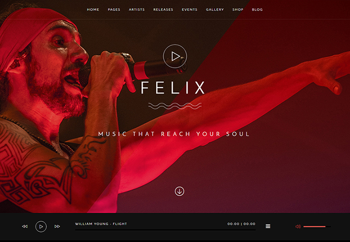 felix wordpress music theme
